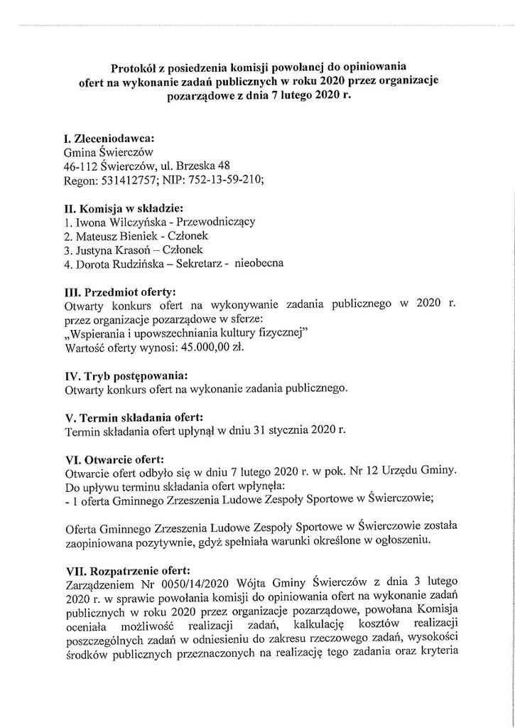 Protokół z posiedzenia komisji powołanej do opiniowania ofert na wykonanie zadań publicznych w roku 2020 przez organizacje pozarządowe z dnia 7 lutego 2020 r.-1.jpeg