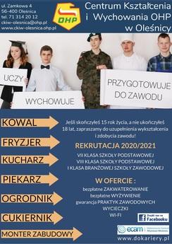 PLAKAT REKRUTACJA 2020 Oleśnica.jpeg