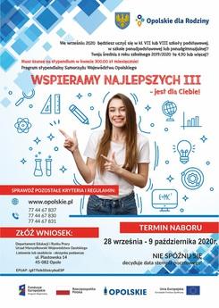 Program stypendialny Samorządu Województwa Opolskiego- Wspieramy Najlepszych 3